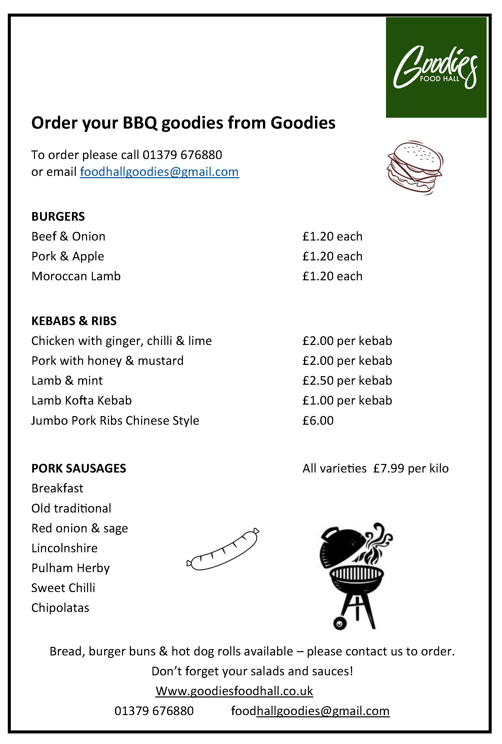 BBQ Goodies Leaflet