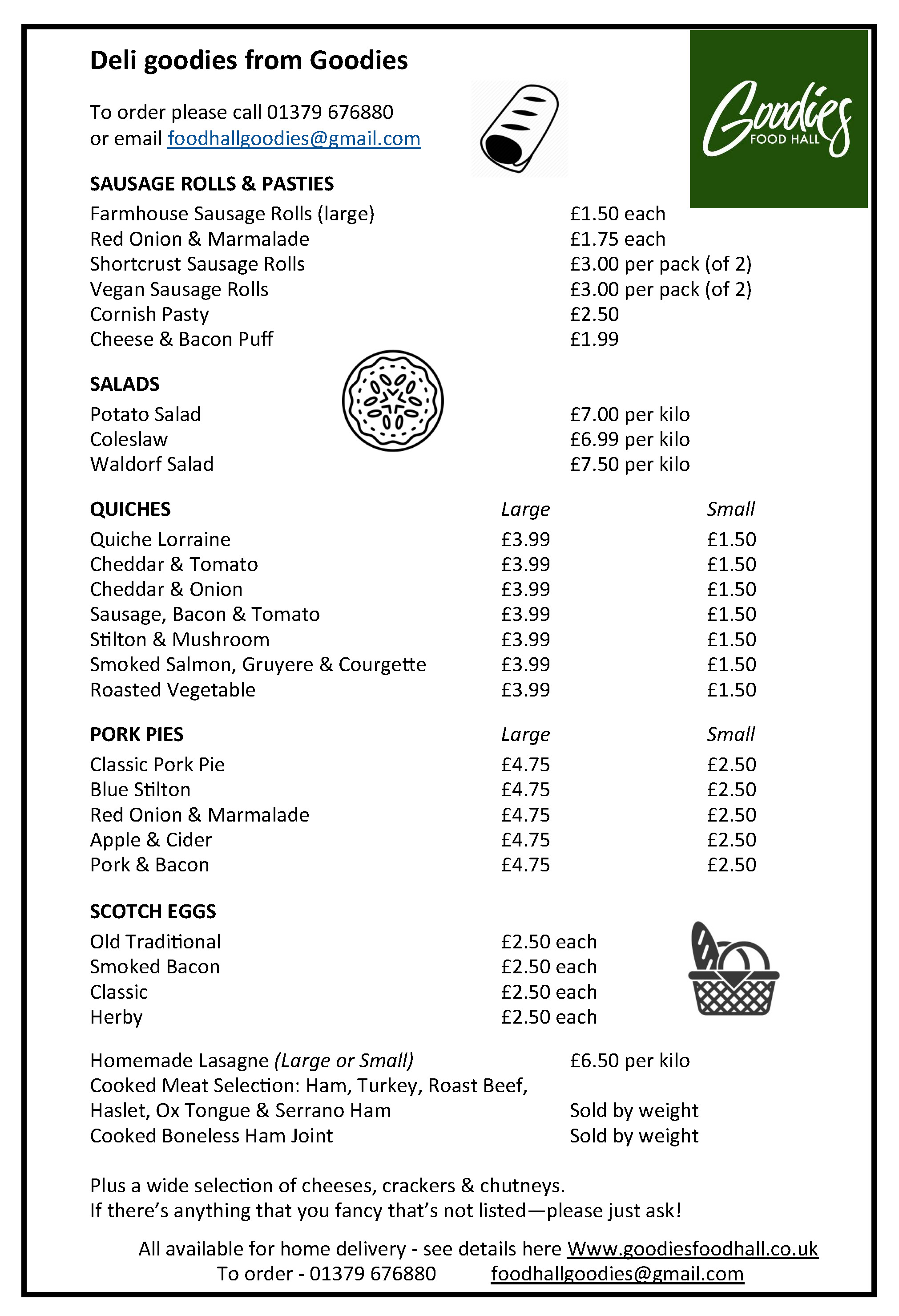 Goodies Deli Leaflet